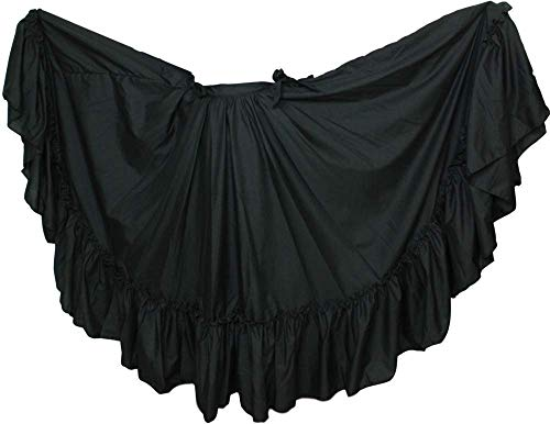 Trade MX Dance Skirt for Folkloric Mexican or Flamenco Dancing (Choose Size) (Girls / 6-8 y/o, Black) ()
