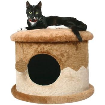 TRIXIE Pet Products Cozy Cat Cave (Brown/Beige)