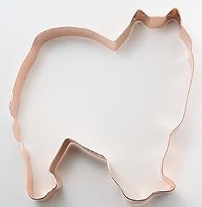 American Eskimo Dog Copper Cookie Cutter