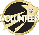 Volunteering Lapel Pins - Black and Gold Volunteer Service Pin Awards 50 Pack