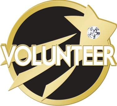(Volunteering Lapel Pins - Black and Gold Volunteer Service Pin Awards 1 Pack Prime)