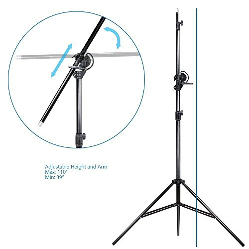 LimoStudio 10ft Two Way Tripod Boom Light Stand for Photo Photography Video Studio, AGG889 by LimoStudio