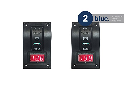 Five Oceans Voltmeter Dual Battery Test Switch Panel, Pair FO-3852-M2 by Five Oceans
