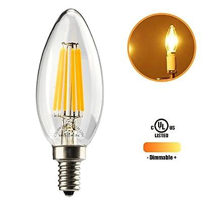 Leadleds Beautiful Candelabra Base Edison Bulb 60w Equivalent Soft White