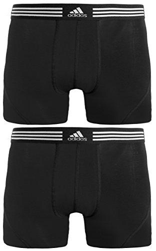 adidas Mens Athletic Stretch Trunk Underwear (2-Pack), Black, X-Large
