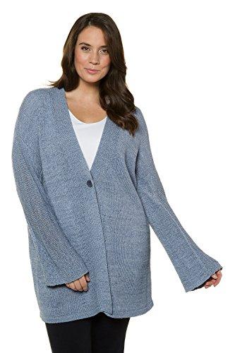 Ulla Popken Women's Plus Size Ribbon Yarn Cardigan Sweater Forget Me Not 20/22 714526 73 by Ulla Popken