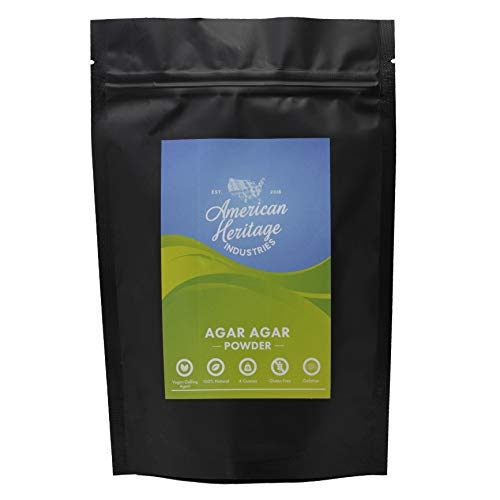 Agar Agar Powder, Vegan Cheese Powder and Vegan Gelling Agent, 4 OZ by American Heritage Industries...