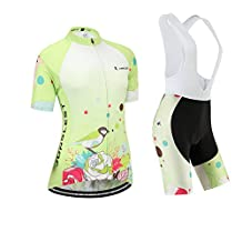 Cycling jersey Set, Maillot de Cyclisme Women Femme Short sleeve Manches Courtes(S~5XL,option:bib Cuissard,3D pad Coussin) N222