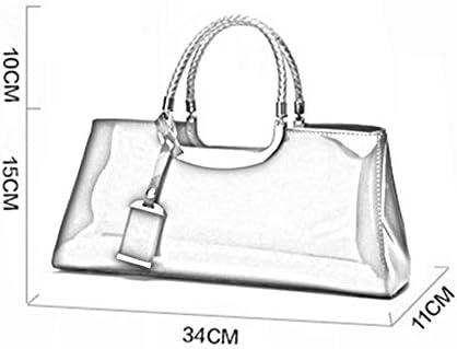 2019 Fashion Glossy Painted Leather Damenhandtasche One Shoulder Bridal Bag Banketttasche Rose Red