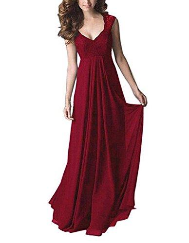 Dark V Chiffon Bridesmaid Dress Dress Botong Red Neck Prom Top Evening Lace Blue S1wCxWPxqn