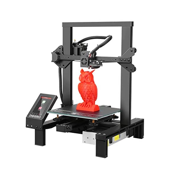 DIGGRO Alpha-3 High Precision 3D Printer with 4.3 inch Touch Screen Large Build Volume...