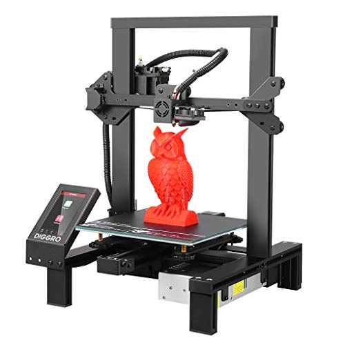 DIGGRO Alpha-3 High Precision 3D Printer with 4.3 inch Touch Screen Large Build Volume Filament Run-Out Detection