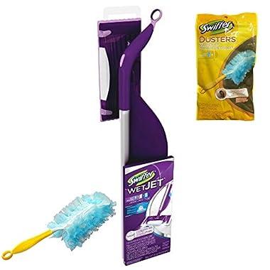 Swiffer WetJet Spray, Mop Floor Cleaner Starter Kit, with Duster