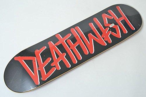 単位バンたるみUSsize8.07インチ(20.5cm)×長さ80.5cm DEATHWISH Skateboard Deck デスウィッシュ スケートボード デッキ レッド×ブラック