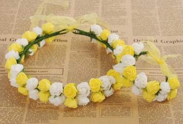 Amazon.com: ORCHILD Flora flower headband 1pcs/lot Rose ...