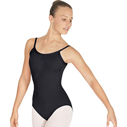 - Adult Tall Pinch Front Camisole Leotard #25527M- BLACK/SMALL