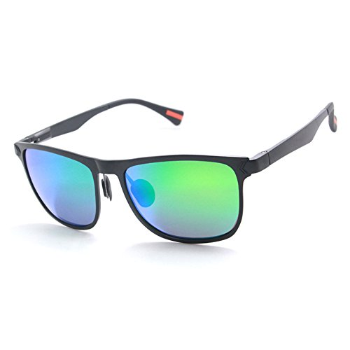 Vintage Racing Driver Costume (Chasing Retro Driving Sunglasses Polarized Metal Frame 56mm Green Lens)