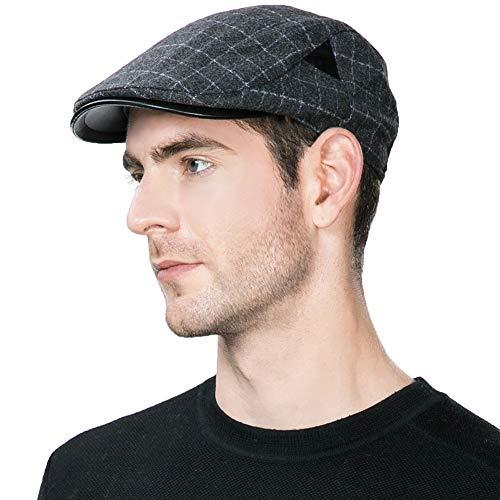 Newsboy Cap Men Winter Hat Hunting Ivy Flat Cap British Cab Drivers Gatsby  Irish Cap Newspaper 1d0962fffd2