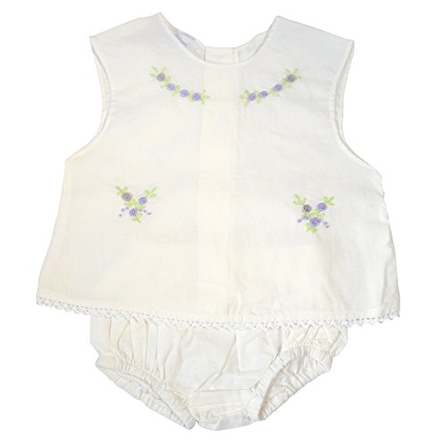 Carriage Boutique Baby Girl Sleeveless Two Piece Diaper Set - Classic Cream, 6M