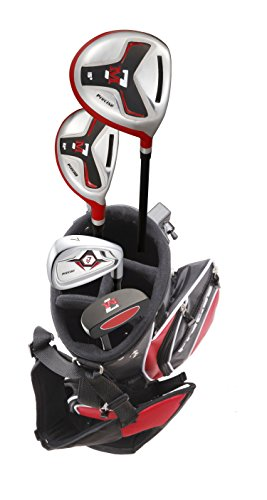 Precise M7 Junior Complete Golf Club Set for Children Kids - 3 Age Groups - Right Hand (Ages 3-5 Red, Right Hand) ()