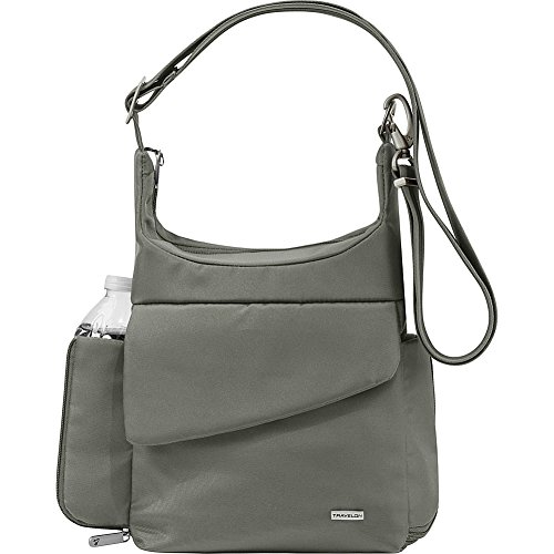 Travelon Anti-Theft Classic Messenger Bag - Colors (Pewter - by Travelon