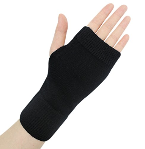 Ai bearty Lightweight Half Fingerless Mittens Thumb Hole Warm Gloves for ()
