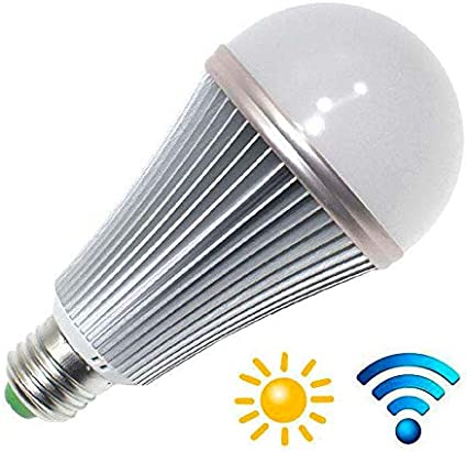 Bombilla LED E27, 12W, chip Samsung, Sensor movimiento y ...