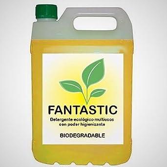 Detergente Ecológico Industrial Multiusos concentrado – FANTASTIC 5L. Es también bactericida y fungicida, elimina