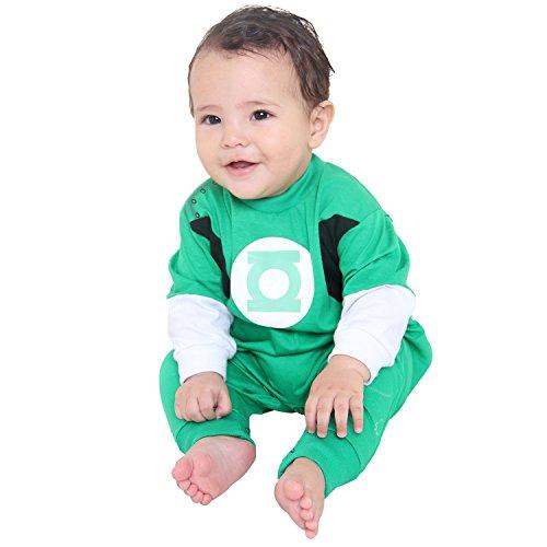 Fantasia Macacão Lanterna Bebê Infantil Sulamericana Fantasias Verde G-9 Meses