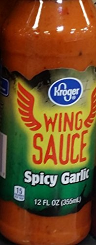 Kroger Wing Sauce Spicy Garlic 12 Oz (Pack of 2)