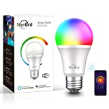 NiteBird Smart Light Bulb Works with Alexa Google Home A19 E26 WiFi Multicolor Dimmable LED Lights Bulbs, 2700k  RGB, 75W Equivalent, No Hub Required, 1 Pack