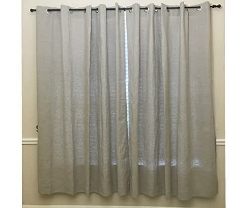 Linen Curtains Amazon Com: Amazon.com: A Pair Of Natural Linen Curtains, Heavy Weight