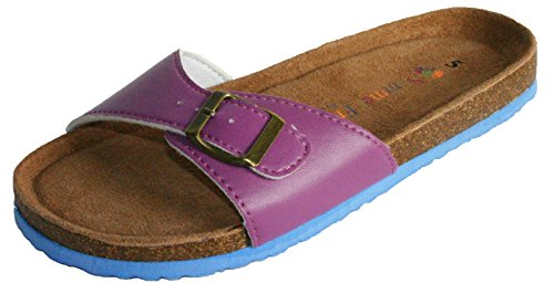 Size 8 Sandal Slide Women's Beach 3 Pool Flip Coolers Buckle Purple Flop Shoe BPzpwPHnq
