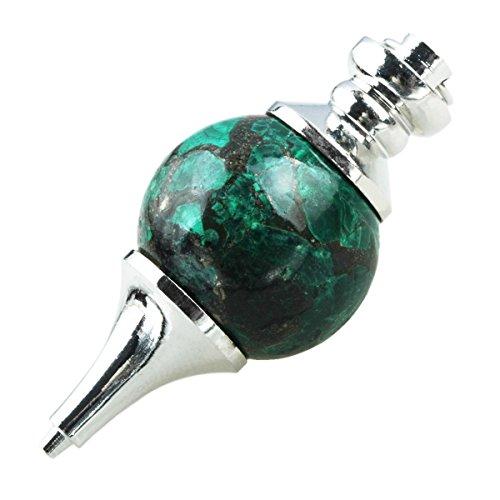 SUNYIK Malachite Stone Ball Pendulum Point Healing Chakra Divination