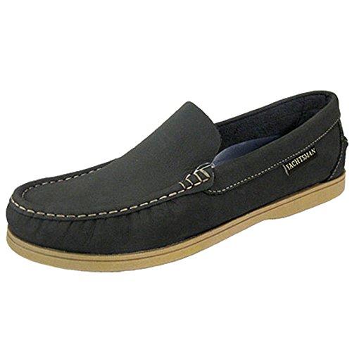 YACHTSMAN - Mocasines elegantes, zapatos náuticos, de piel, para hombre azul marino
