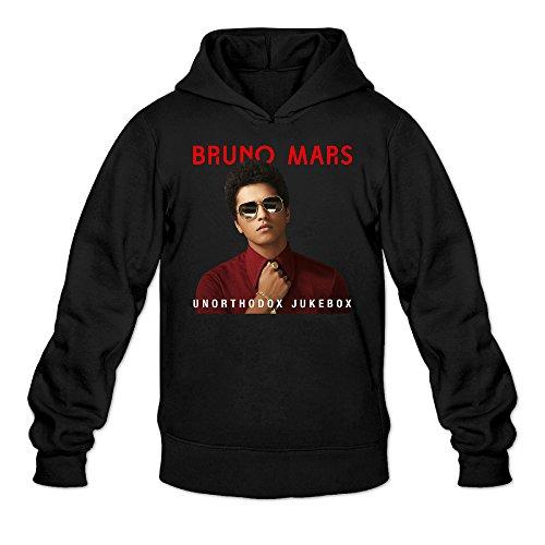 YQUE Men's Bruno Mars Unorthodox Jukebox Hoodies Hoodie Size XL Black