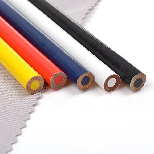 Best Deals! LUTIONS 5 Pcs Assorted Colors Water Soluble Pencil Sewing Mark, Tailor's Marking and Tra...