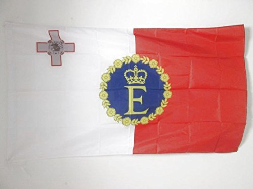 ROYAL STANDARD OF MALTA 1967–1974 FLAG 3' x 5' for a pole
