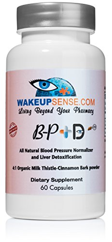 BP+D All-natural Liver Detox And Blood Pressure Support With Organic Cinnamon Bark And Milk Thistle by Wake Up Sense Holistic Healing (60 Capsules, Made In The USA) For Sale