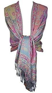 dad9ab4a9a6e World of Shawls femmes  S cachemire pashmina imprimé touché enveloppant  châle écharpe étole hijab tête