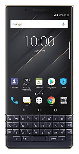 BlackBerry KEY2 LE (Lite) Dual-SIM (64GB, BBE100-4, QWERTZ Keypad) Factory Unlocked 4G Smartphone - International Version (Champagne/Gold)