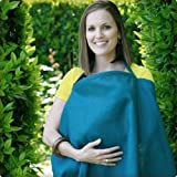 Simple by Bebe au Lait Organic Linen Nursing Cover - Peacock