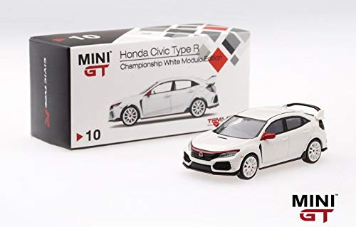 2017 Honda Civic Type R Championship White Modulo Edition to 4,800 Pieces Worldwide 1/64 Diecast Model Car by True Scale Miniatures MGT00010