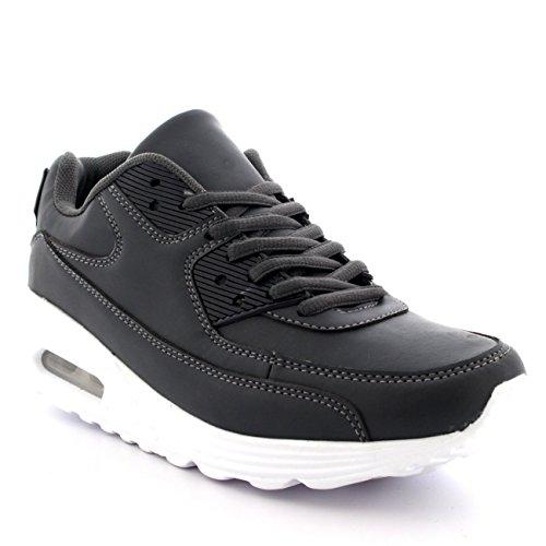 Hommes Mode Bulle D'air Sport En Marchant Chaussures Poids Léger Formateurs Gris Y5YdOf6D