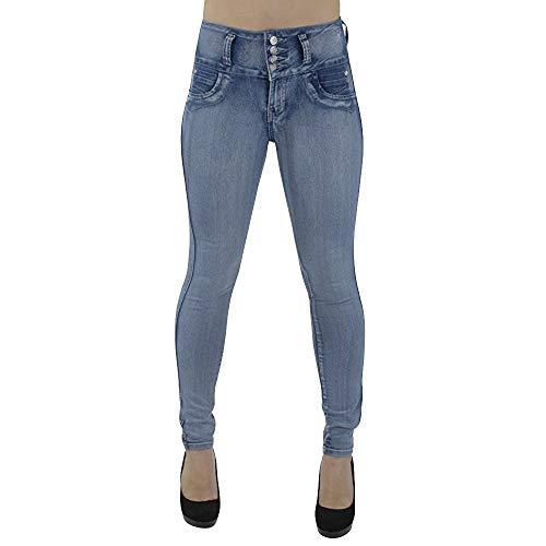 Denim Vita Vitello Pantaloni Sottile Stretch Jeans Butt Casuale Azzurro donne Alta jeans Donna Semplice Forti Enhancer Lqqstore Magro Ad Taglie p0fTqPaw