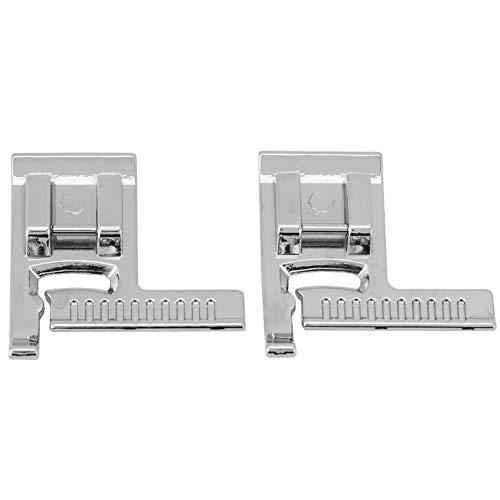 ZealMax 2 piezas multifunción prensatelas para el hogar con regla, máquina de Coser eléctrica prensatelas pies Cinta métrica accesorios de costura