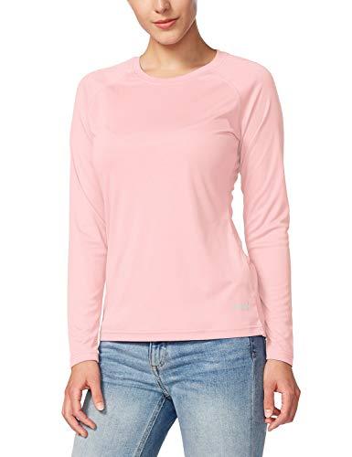 Baleaf Women's UPF 50+ Sun Protection T-Shirt Long Sleeve Outdoor Performance Seashell Pink Size L