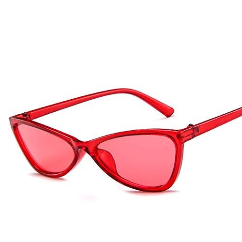 JFSJDF Vintage Red Goggles Cat Women Sunglasses Eye Glasses Retro Fashion Steampunk Ladies Small Triangle ()