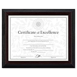 Dax - 2 Pack - Solid Wood Award/Certificate Frame 8-1/2 X 11 Black W/Walnut Trim \