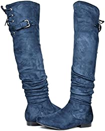 Amazon.com: Lace-up - Over-the-Knee / Boots: Clothing Shoes &amp Jewelry